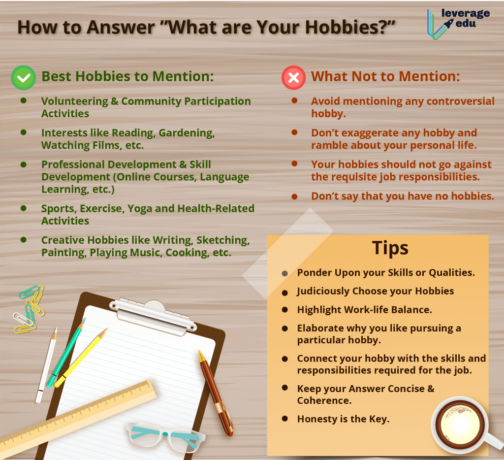 Best Answers To What Are Your Hobbies Leverage Edu